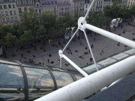 Vue depuis terrasse, centre pompidou