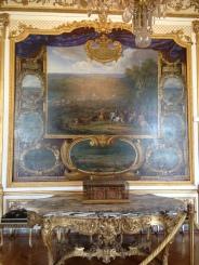 Une travée avec fresque de la galerie des batailles