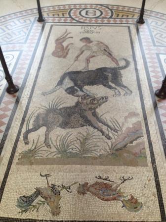 Mosaïque pompéienne de la Rotonde, galerie des peintures