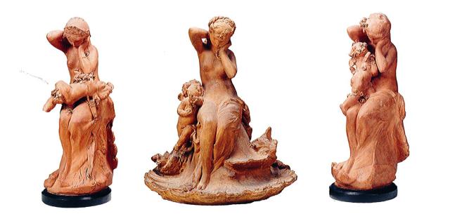 Atelier, Carrier-Belleuse, Toilette de vénus, secret d'amour, venus et l'amour, v1871, musée rodin