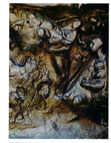Rodin, détail du vantail droit de la porte des Enfers