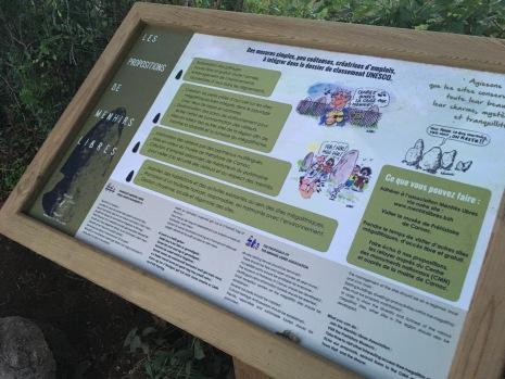 Panneau des Menhirs Libres /cultivetaculture