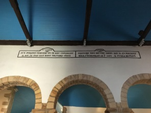 Inscription dans la nef de la chapelle /cultivetaculture