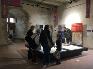 Salle du capitaine du château et son installation pédagogique /cultivetaculture