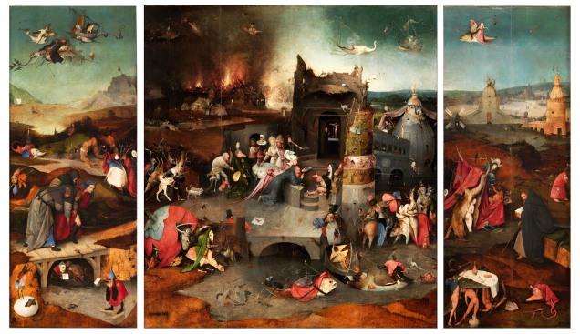 Jérôme Bosch - La tentation de Saint Antoine, Huile sur toile, Musée national, Lisbonne